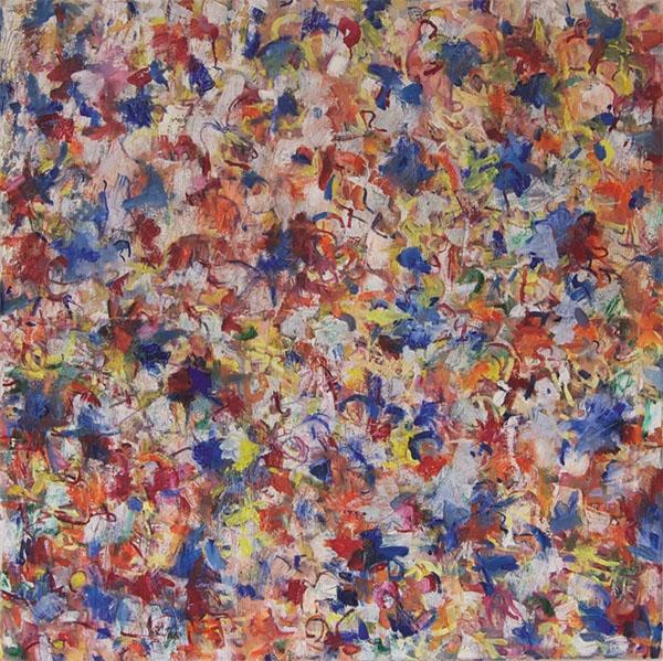 Bethlehem 18, 2011, 100 cm x 100 cm, Öl auf Leinwand mit Colourprint