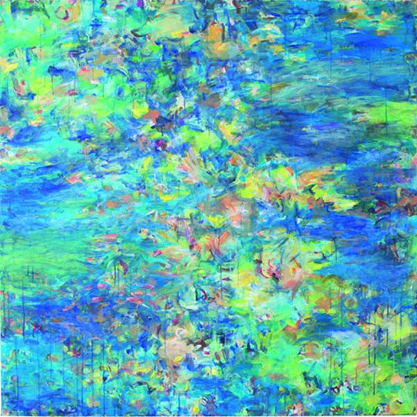 Bethlehem 25, 2011, 120 x 120 cm, Öl auf Leinwand mit Digitaldruck