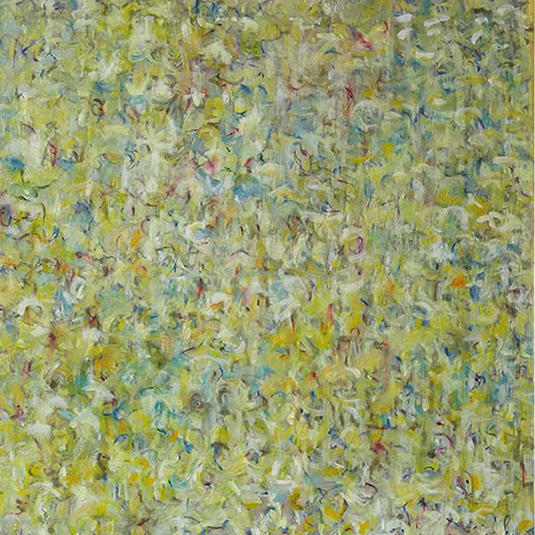 Bethlehem 17, 2011, 100 x 100 cm, Öl auf Leinwand mit Tintendruck