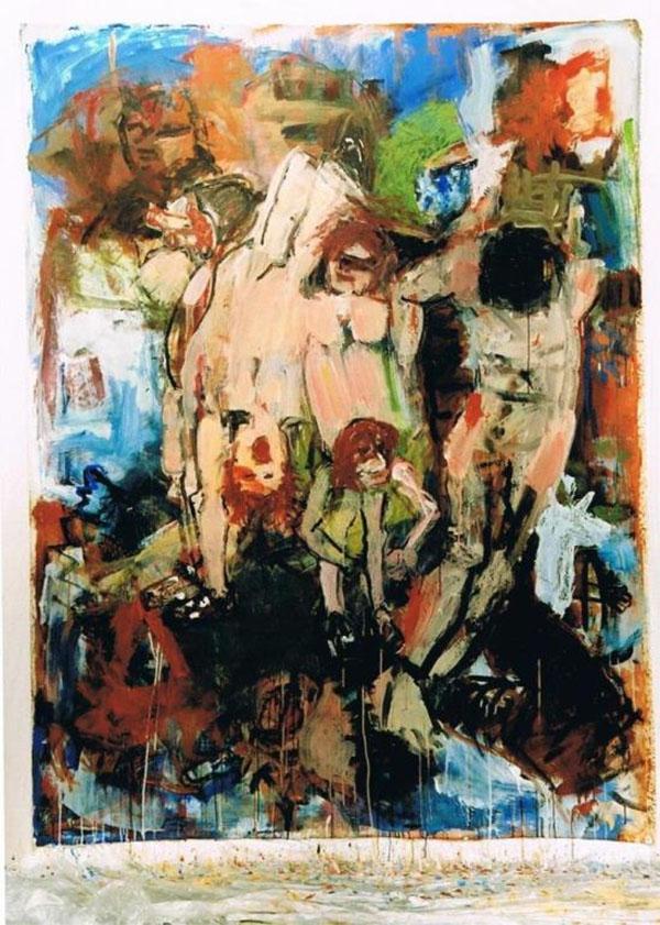 Desastres, Goya - Chapman, 2003,  200 x 150 cm, Acryl auf Maltuch