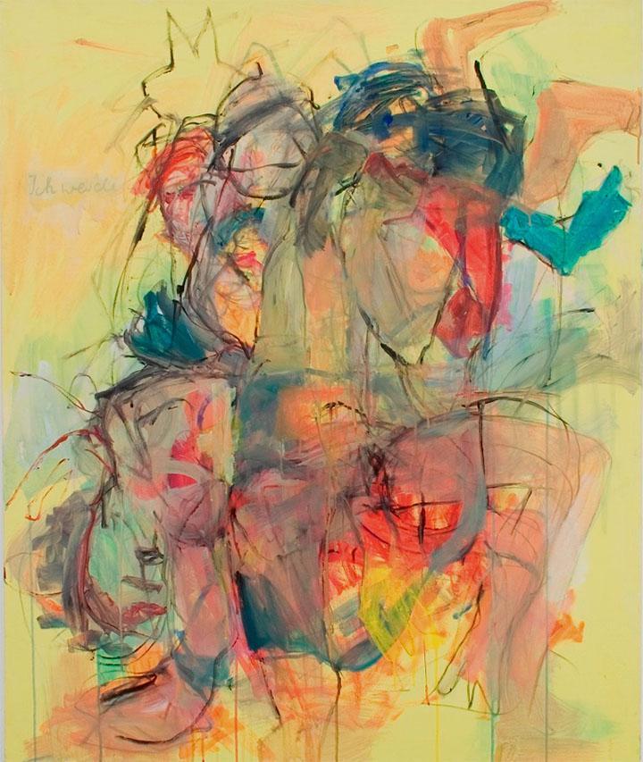 Ich werde, 2005, 120 x 100 cm, Acryl auf Leinwand