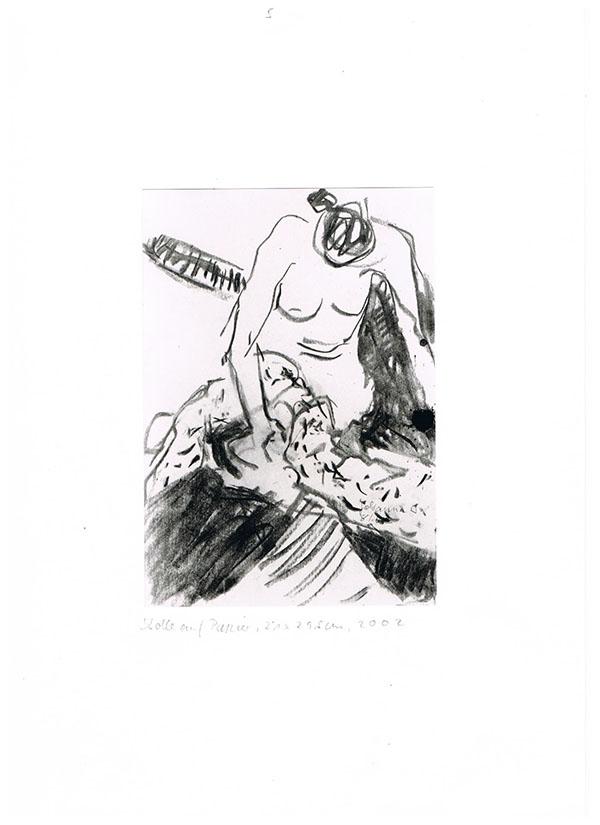 Kohle auf Papier, 2002, 29,5 cm x 21 cm