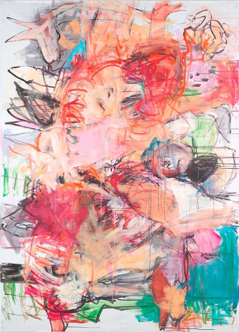 Man Power, 2007, 210 cm x 155 cm, Acryl auf Leinwand