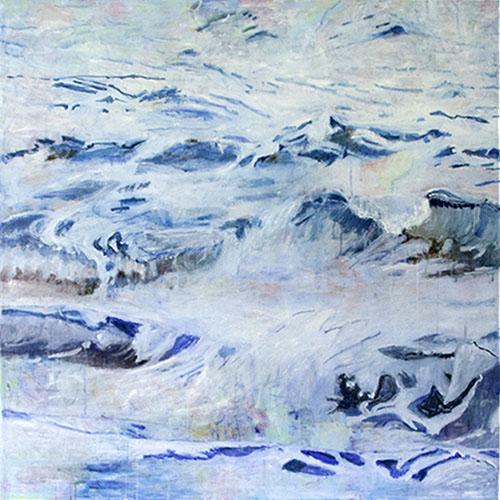 O. T., 2017, 150 x 150 cm, Acryl auf Leinwand