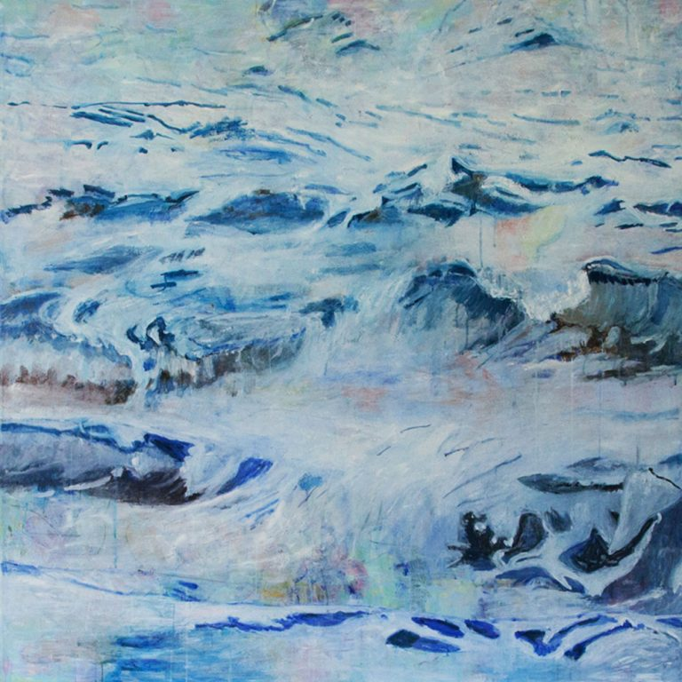 Alan Kurdi, 2017, 150 x 150 cm, Acryl auf Leinwand
