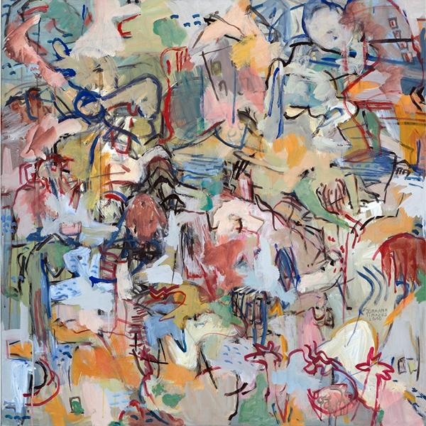 O.T., 2010, 100 cm x 100 cm, Acryl auf Leinwand