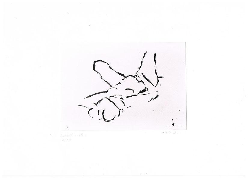 Siebdruck auf Bütten 1_10, 1997, 25 cm x 37 cm