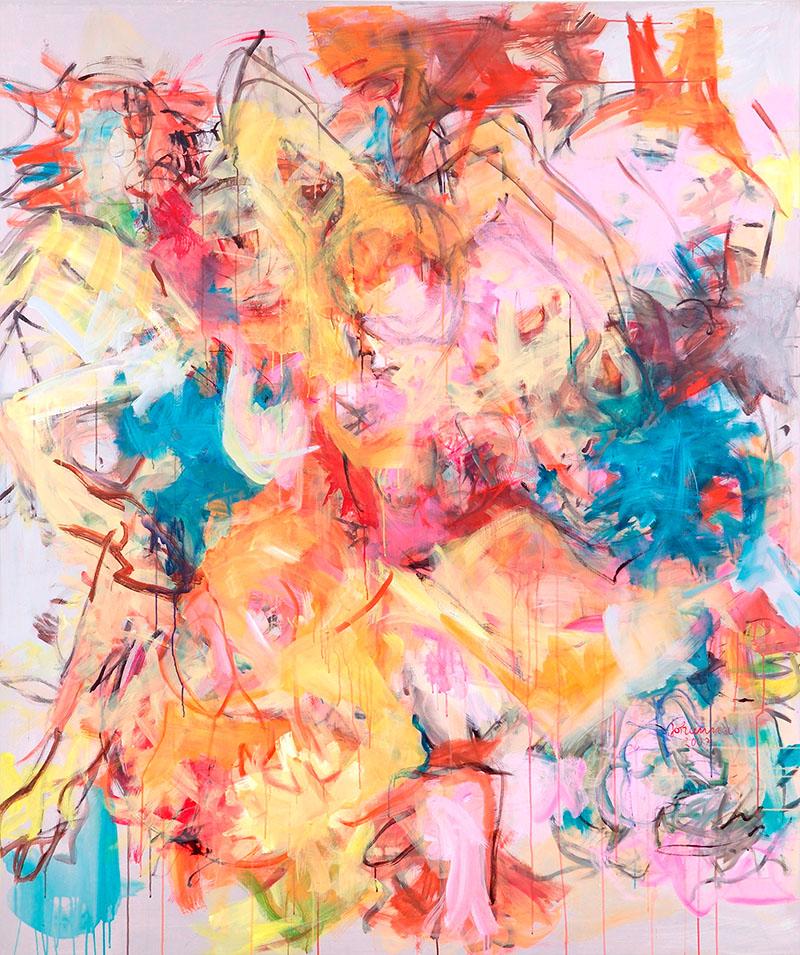 Tanz, 2007, 200 cm x 170 cm, Acryl auf Leinwand