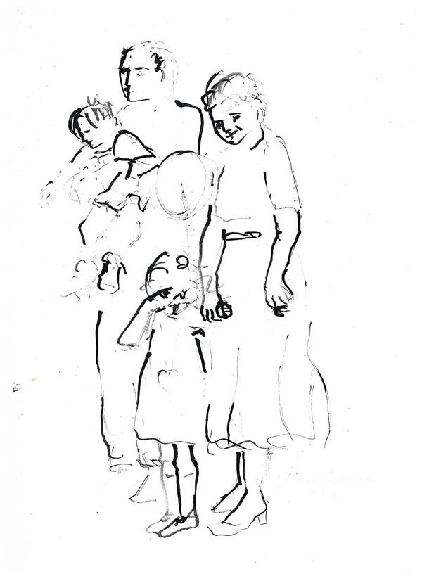 Tusche auf Papier, 1996, 42 cm x 29 cm