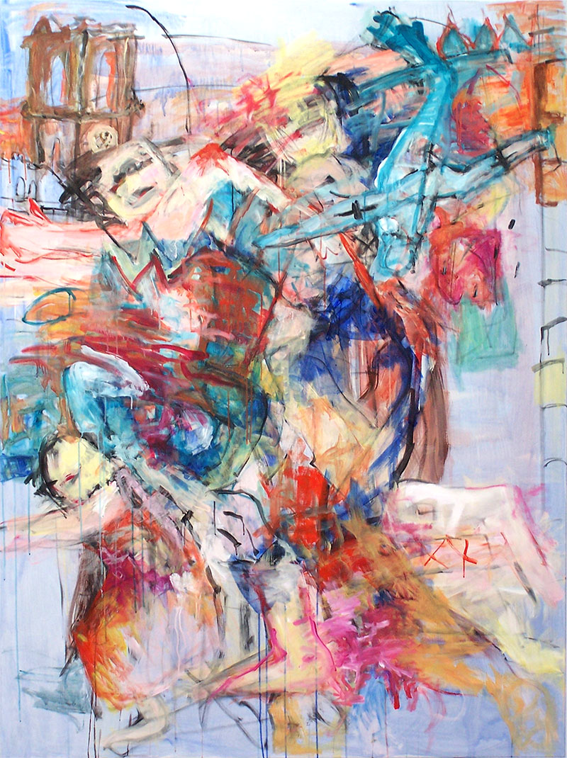Vertreibung 2, 2006, 200 x 150 cm, Acryl auf Leinwand