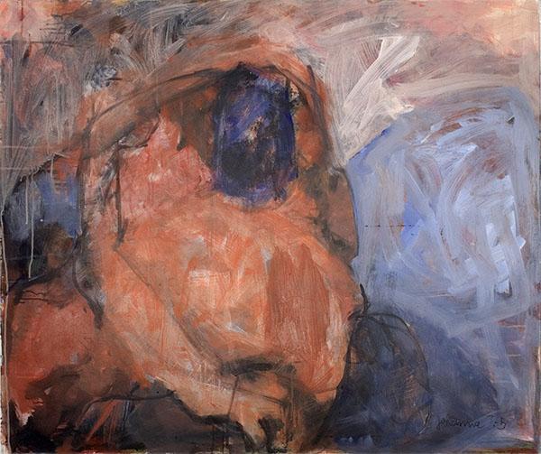 o. T., 2000, 100 x 120 cm, Acryl auf Leinwand