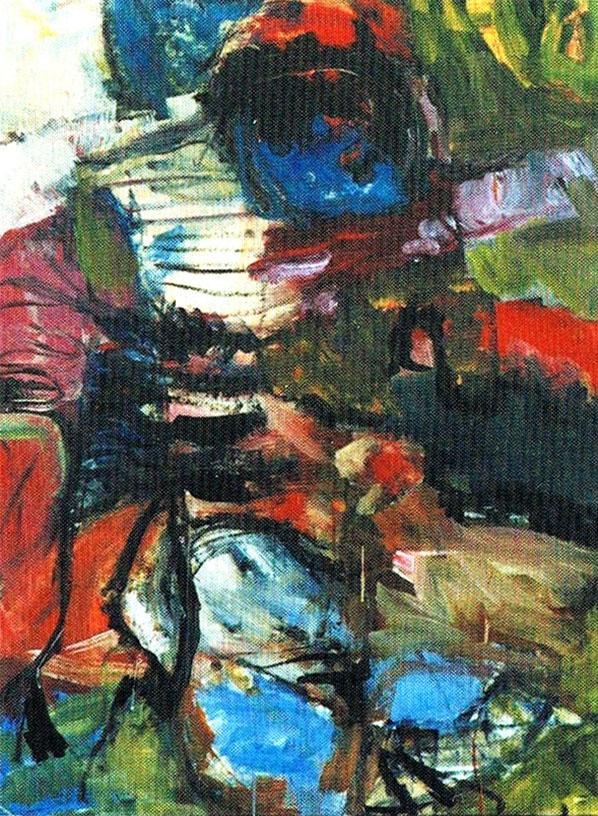 O. T., 2001, 120 x 98 cm, Acryl auf Leinwand