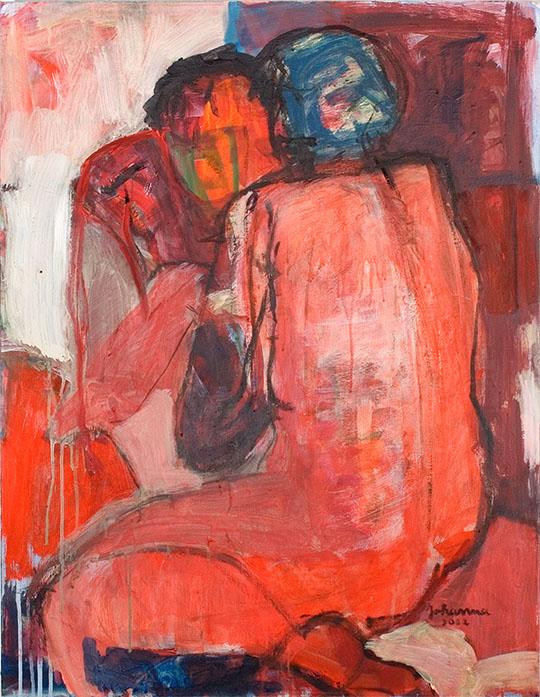 O. T., 2003, 90 x 70 cm, Acryl auf Leinwand