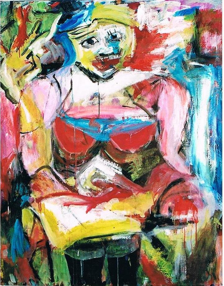 O. T., 2006, 120 x 100 cm, Acryl auf Leinwand