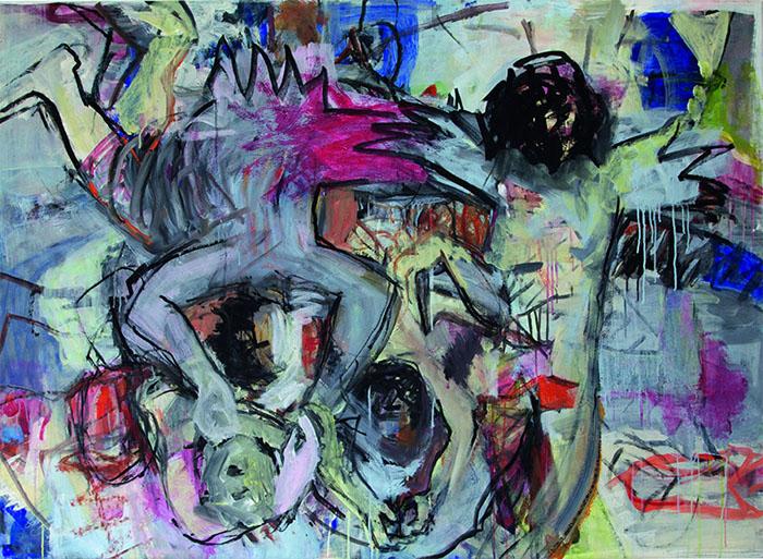 O.T. 2, 2005, 110 cm x 150 cm, Acryl auf Leinwand