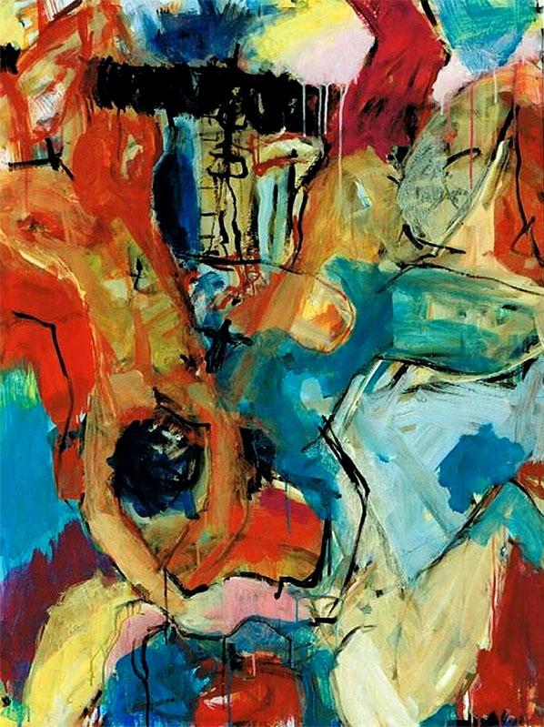O.T., 2003, 120 x 90 cm, Acryl auf Leinwand