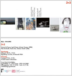 Einladung Ausstellung 3+3