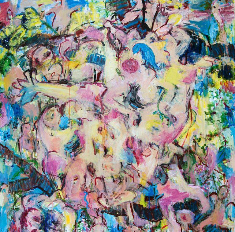 Betlehem 31, 2014, 150 x 150 cm, Acryl auf Leinwand