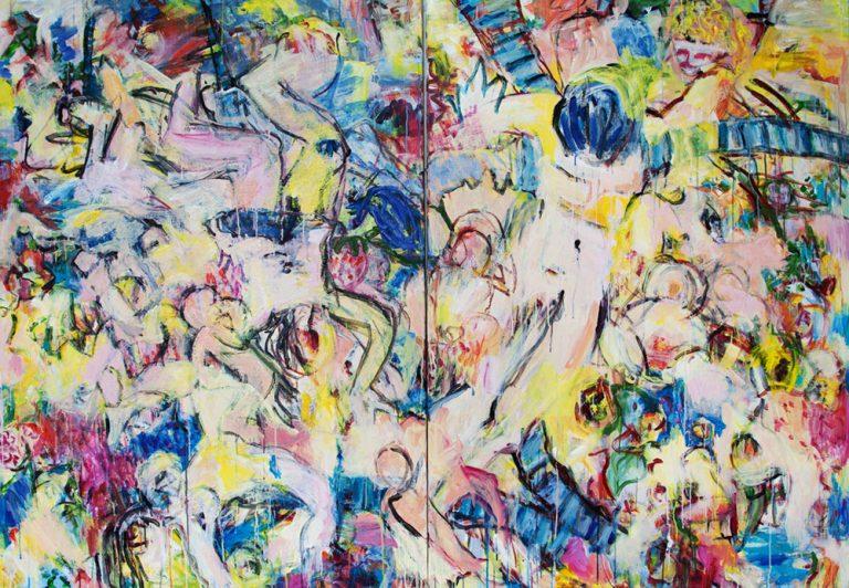 Betlehem 32, 2014, 140 x 200 cm, 2-teilig, Acryl auf Leinwand