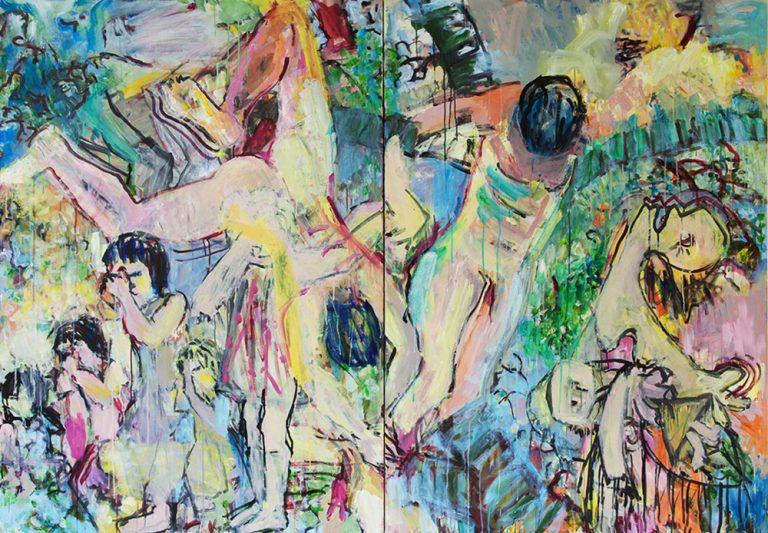 Betlehem 33, 2015, Zustand, 140 x 200 cm, Öl auf Leinwand