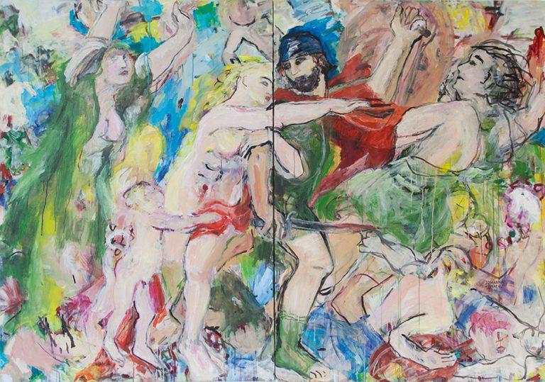 Die Folgen des Krieges nach Rubens 2015, 140 x 200 cm, 2-teilig, Acryl auf Leinwand