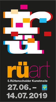 Programm der 5. Rüttenscheider Kunstmeile vom 27.06. - 14.07.2019